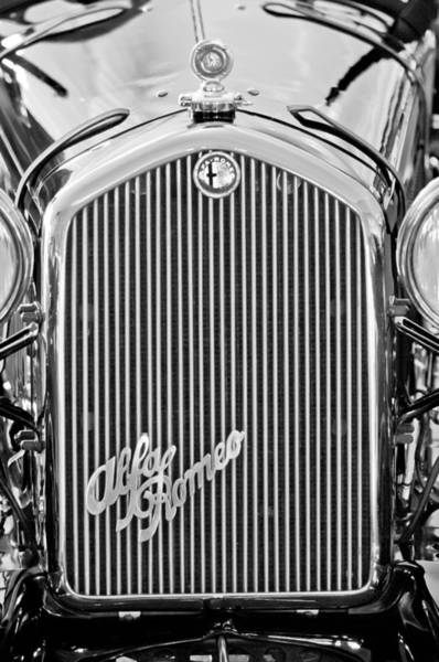 Photograph - Alfa Romeo Grille Emblem by Jill Reger