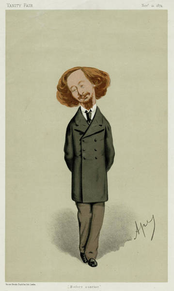 Wall Art - Drawing - Algernon Charles Swinburne  Writer by Mary Evans Picture Library