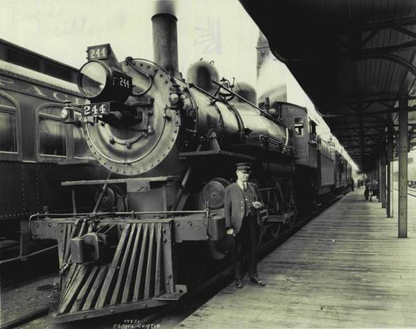 Depot Photograph - All Aboard  by Retro Images Archive