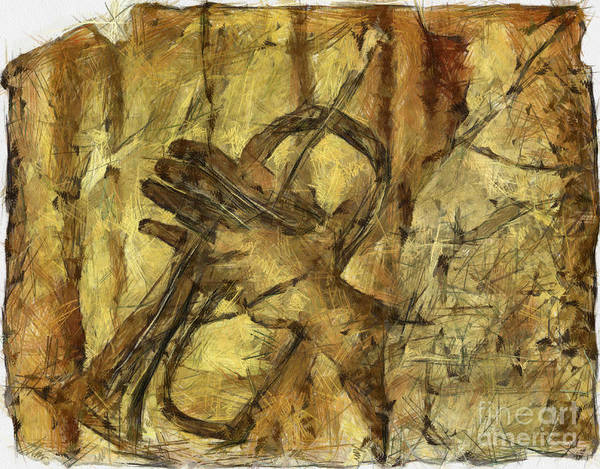 Trumpet Mixed Media - All That Jazz by Michal Boubin