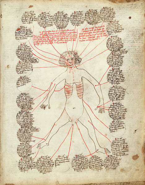 Manuscript Photograph - Allegorical Medical Man by Library Of Congress