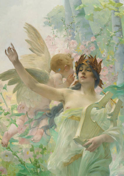 Scriptural Painting - Allegory Of Music by Paul Francois Quinsac