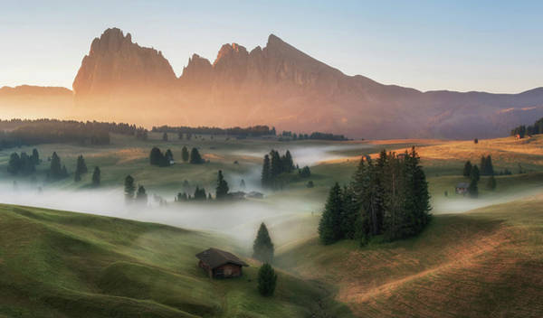 Farmhouse Photograph - Alpe Di Siusi by Ales Krivec
