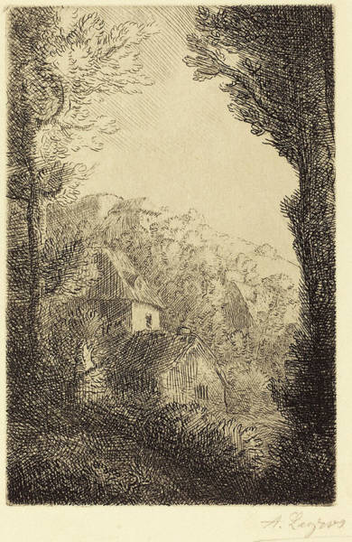 Wall Art - Drawing - Alphonse Legros, Old Chateau Un Vieux Chateau by Quint Lox