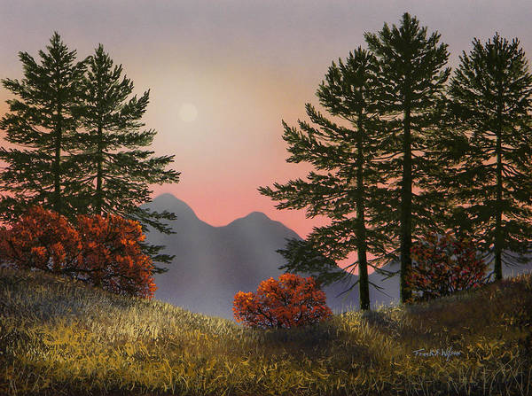 Painting - Alpine View by Frank Wilson