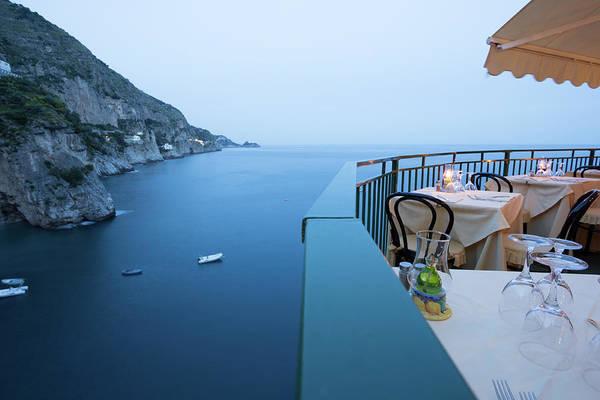 Patio Photograph - Amalfi Coast In Campania, Italy by Davidcallan