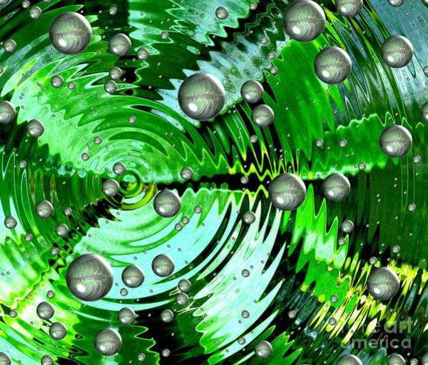Amazing. Abstract Art. Green Grey  Blue Yellow  Art Print