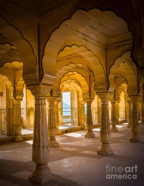Wall Art - Photograph - Amber Fort Arches by Inge Johnsson