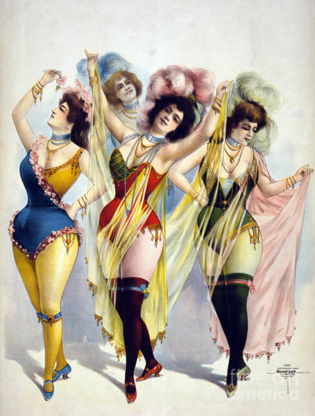 Photograph - American Burlesque Costumes 1899 by Photo Researchers