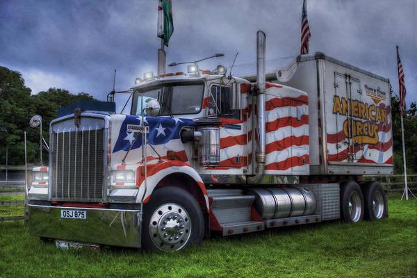 Wagon Wheel Photograph - American Circus Truck by Ian Mitchell