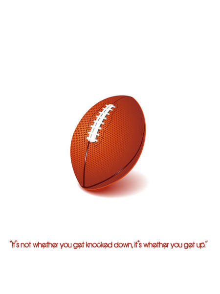 Digital Art - American Football Quote Minimalist Sports Poster by Celestial Images