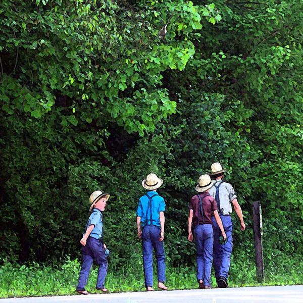 Amish Country Digital Art - Amish Boys by Joyce  Wasser