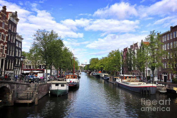 Houseboat Photograph - Amsterdam Canal by Ivy Ho