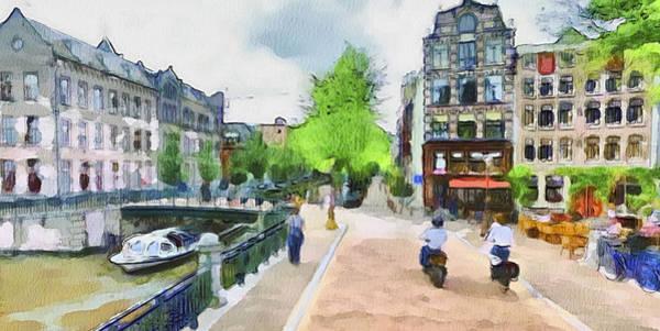 Old Town Digital Art - Amsterdam Streets 1 by Yury Malkov