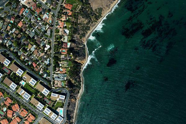 Suburbs Photograph - An Aerial View Of  Suburbian Housing by Michael H