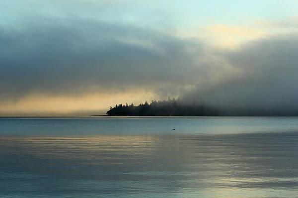 An Island In Fog Art Print