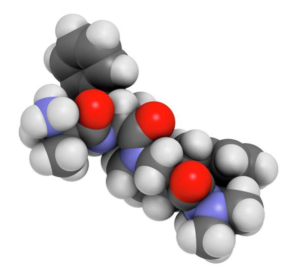 Anorexia Photograph - Anamorelin Anorexia Drug Molecule by Molekuul/science Photo Library