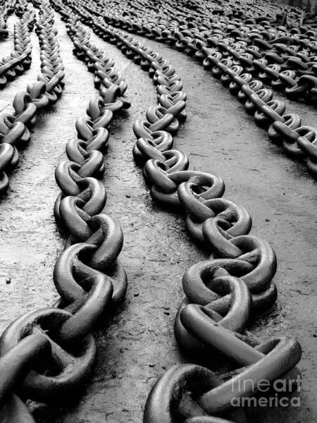 Chain Link Photograph - Anchor Chain by Sinisa Botas