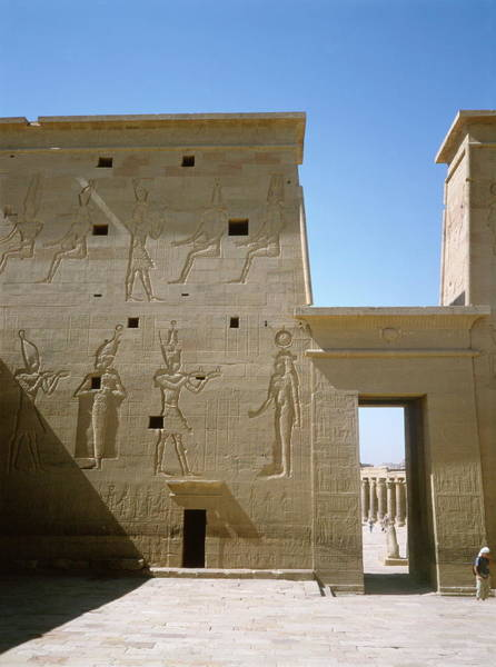 Pictograph Photograph - Ancient Egyptian Temple At Philae by Robert Brook/science Photo Library