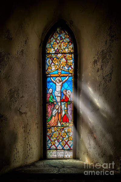 Beam Of Light Photograph - Ancient Glass by Adrian Evans