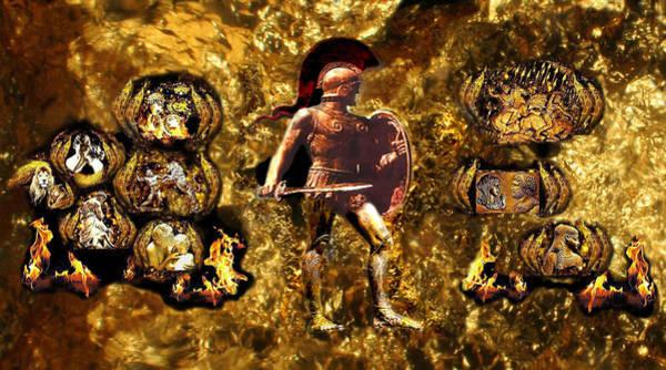Macedonia Digital Art - Ancient Hellenic Antiquity Part 2 by Anastasios Aretos