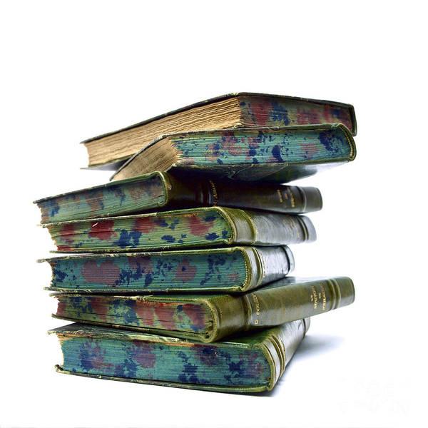 Wall Art - Photograph - Ancient Pile Of Books. by Bernard Jaubert