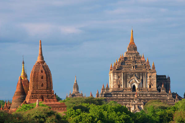 Bagan Photograph - Ancient Temples And Pagodas, Bagan by Keren Su