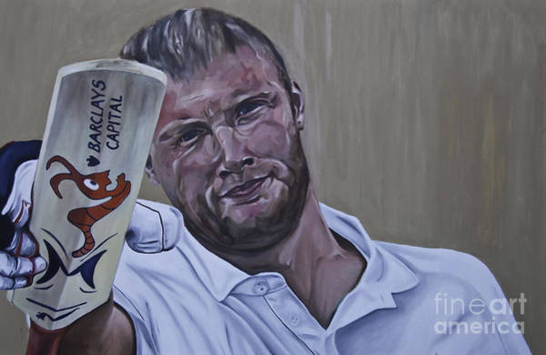 Painting - Andrew Flintoff by James Lavott
