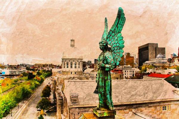 Photograph - Angel Of Old Montreal by Alice Gipson