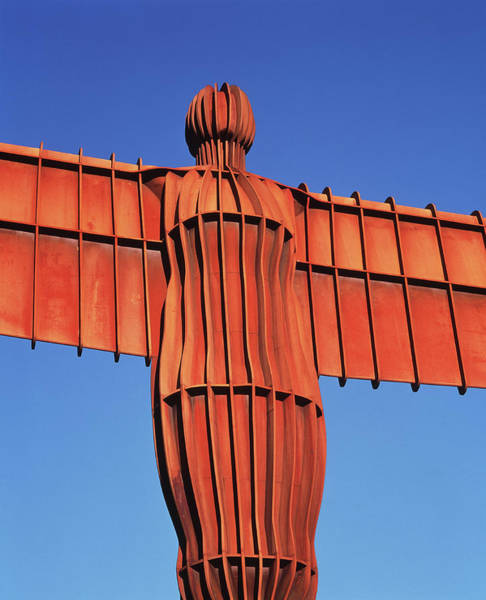 Oxidised Photograph - Angel Of The North Sculpture by Simon Fraser/science Photo Library