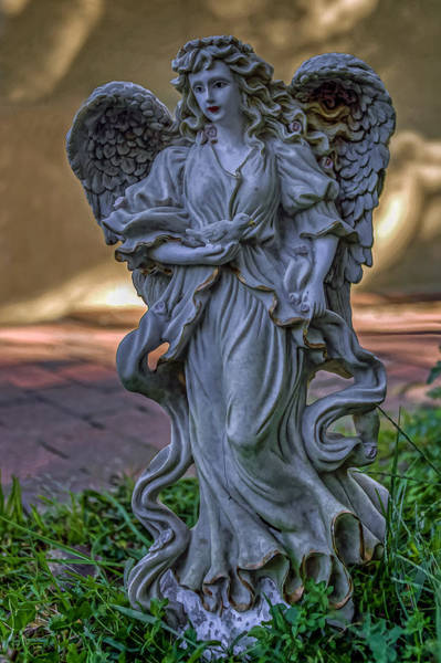 Photograph - Angel With Bird by Jerry Gammon