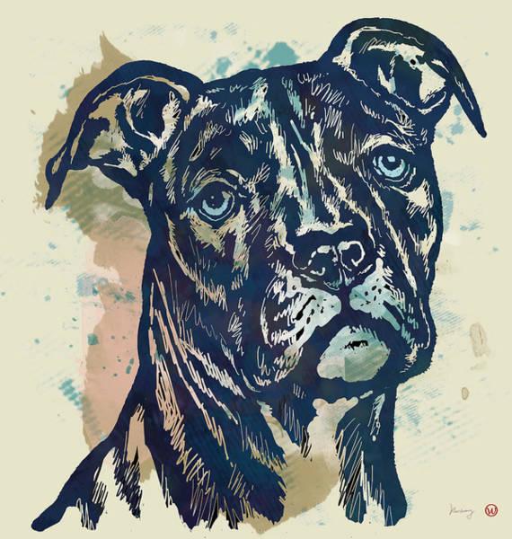 Carnivorous Drawing - Animal Pop Art Etching Poster - Dog - 4 by Kim Wang