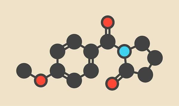 Ampa Wall Art - Photograph - Aniracetam Nootropic Drug Molecule by Molekuul/science Photo Library