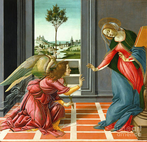 Sandro Botticelli Painting - Annunciation by Sandro Botticelli