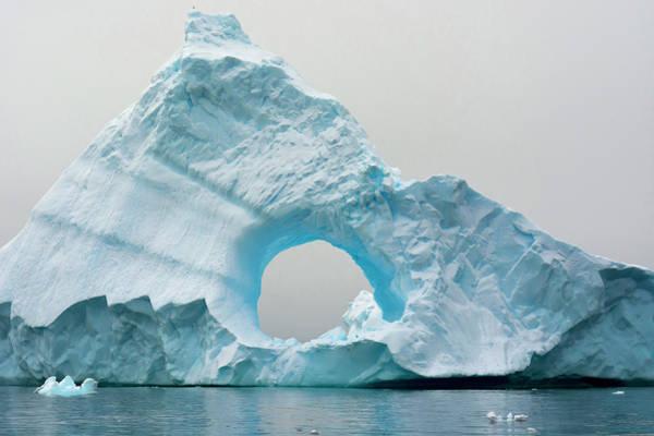 Antarctica Photograph - Antarctica Charlotte Bay Giant Iceberg by Inger Hogstrom