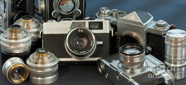 Photograph - Antique Cameras by Gunter Nezhoda