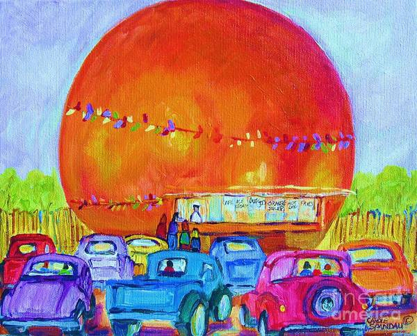 Painting - Antique Cars At The Julep by Carole Spandau