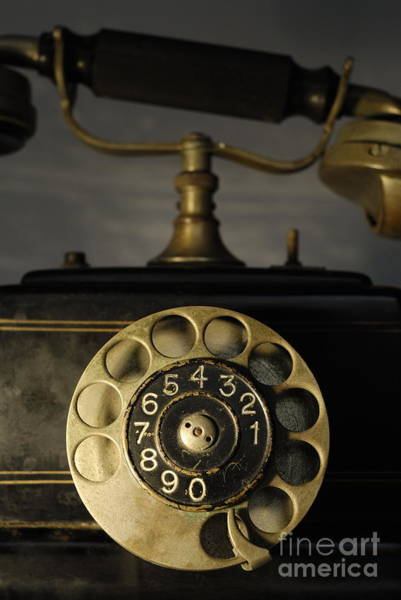Wall Art - Photograph - Antique Dial Telephone by Sami Sarkis