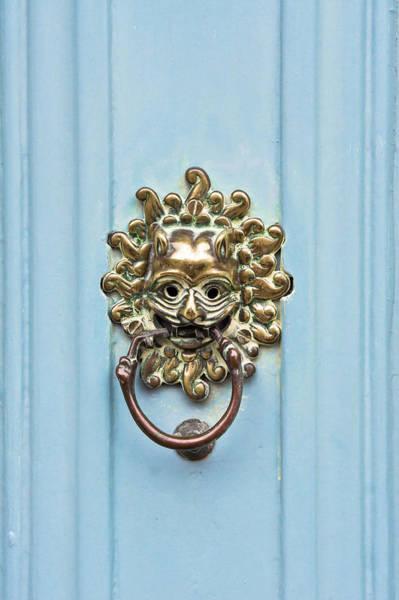 Lock Gates Photograph - Antique Door Knocker by Tom Gowanlock