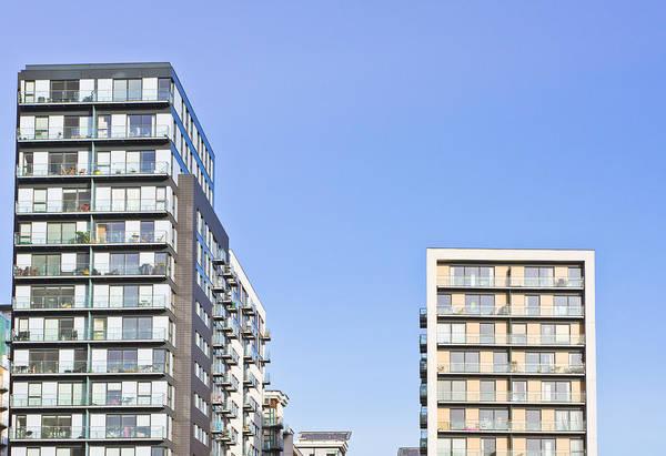 Housing Development Photograph - Apartment Blocks by Tom Gowanlock