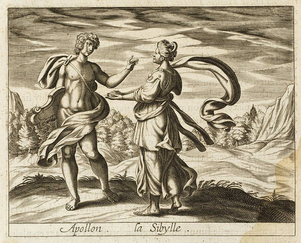Wall Art - Drawing - Apollo Promises His Lover  Sibyl by Mary Evans Picture Library