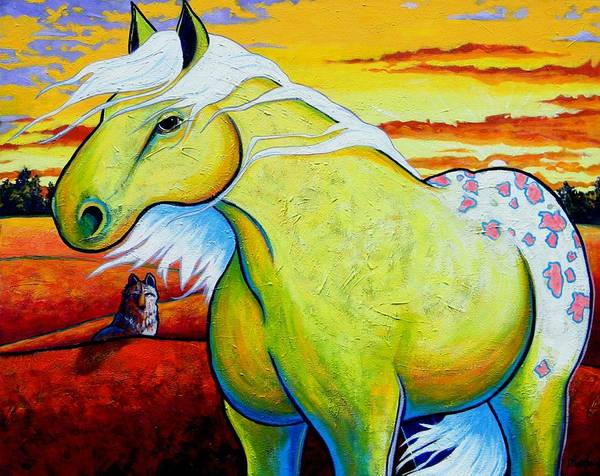 Wall Art - Painting - Appaloosa Dawn by Joe  Triano