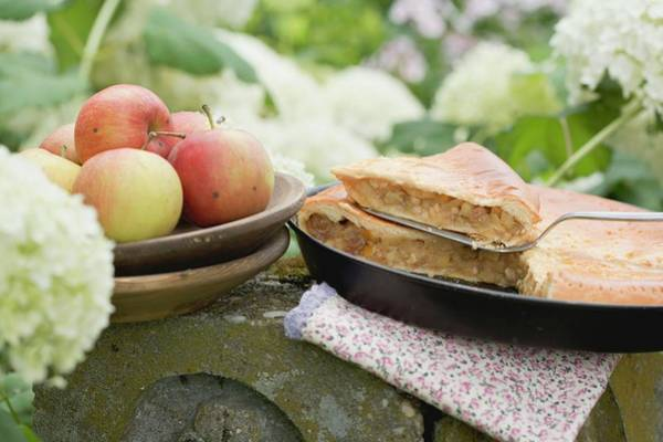 Wall Art - Photograph - Apple Pie On A Stone Post by Eising Studio - Food Photo and Video