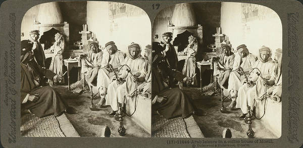 Wall Art - Photograph - Arab Men At Leisure by Underwood Archives