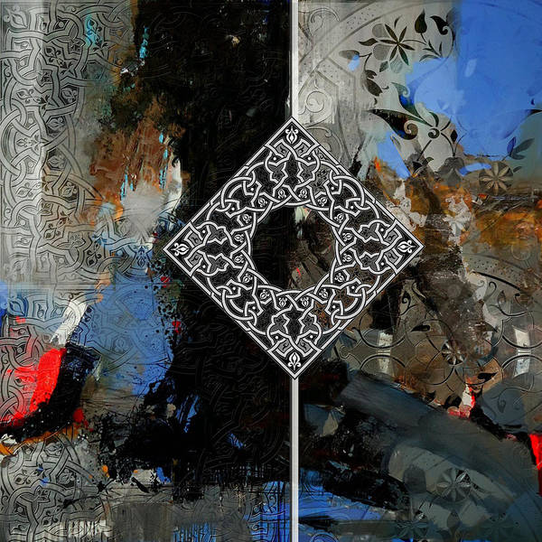 Corporate Art Task Force Painting - Arabesque 4 by Shah Nawaz