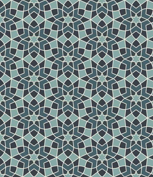 Arab Digital Art - Arabesque Seamless Pattern by Pablo Romero