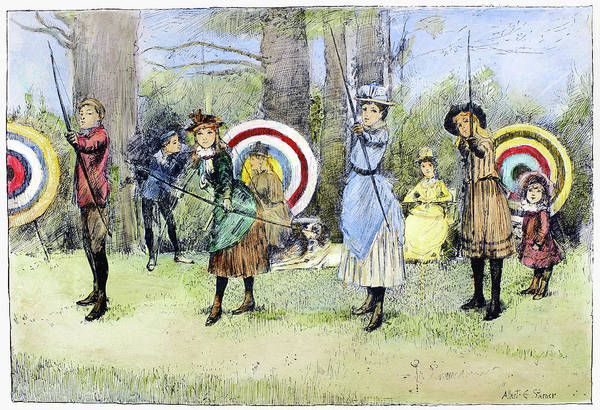 Target Drawing - Archery, 1886 by Granger