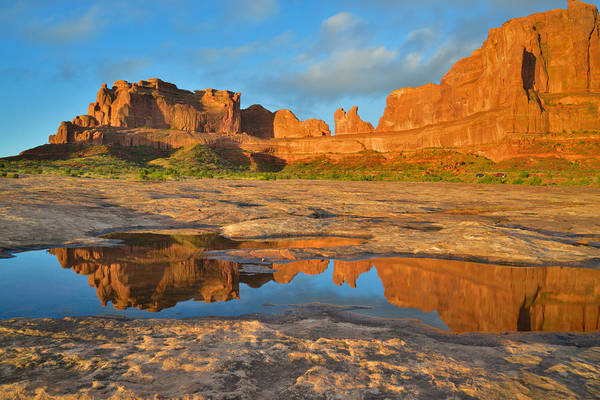Photograph - Arches Sunrise by Ray Mathis