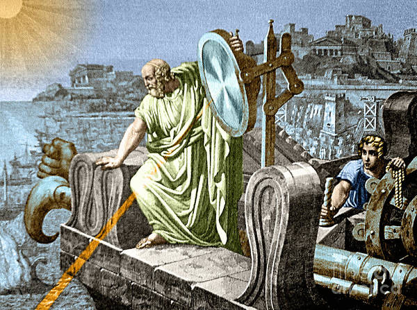 Photograph - Archimedes Heat Ray Siege Of Syracuse by Science Source