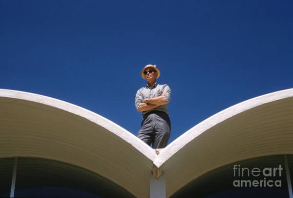 Googie Wall Art - Photograph - Architect R. Duane Conner 1961 by The Harrington Collection
